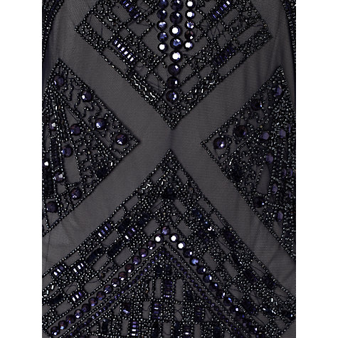 Buy Adrianna Papell Long Sleeved Beaded Dress, Navy Online at johnlewis.com