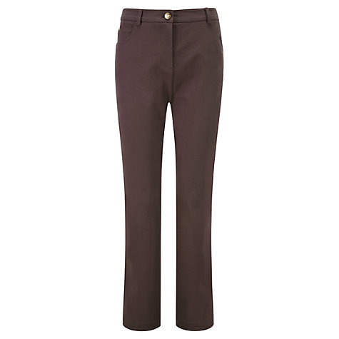 Buy Viyella Smart Regular Jeans, Espresso Online at johnlewis.com