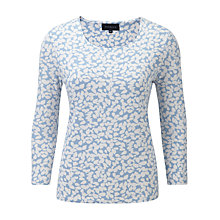 Buy Viyella Leaf Print Jersey Top, Water Online at johnlewis.com