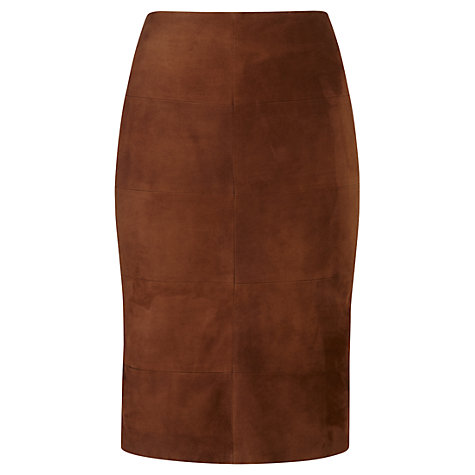 Buy Viyella Suede Pencil Skirt, Brown Online at johnlewis.com