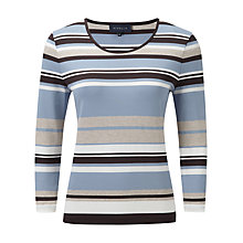 Buy Viyella Water Stripe Jersey Top, Blue Online at johnlewis.com
