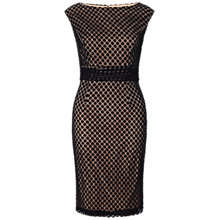 Buy Adrianna Papell Empire Lace Dress, Black Online at johnlewis.com
