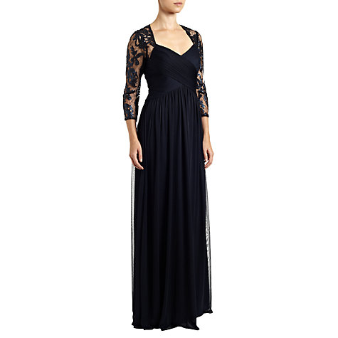 Buy Adrianna Papell Sequin Embroidered Lace Dress, Ink Online at johnlewis.com