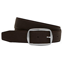 Buy Reiss Max Grained Leather Belt, Brown Online at johnlewis.com