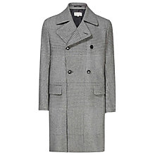 Buy Reiss Orchid Double Breasted Check Coat, Grey Online at johnlewis.com