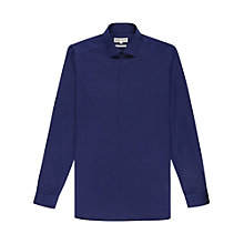 Buy Reiss Delmar Concealed Placket Shirt, Indigo Online at johnlewis.com