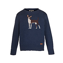 Buy Barbour Boys' Knockholt Dog Jumper, Indigo Online at johnlewis.com