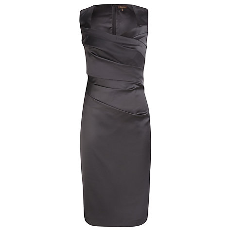 Buy Alexon Sateen Dress, Black Online at johnlewis.com