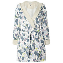 Buy White Stuff Stealing Sheep Fleece Robe, Teal Green Online at johnlewis.com