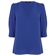 Buy Oasis Tabby Tuck Sleeve Top Online at johnlewis.com