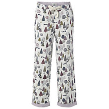 Buy White Stuff Christingle Print PJ Bottom, White Online at johnlewis.com