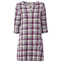 Buy White Stuff Sleepy Hollow Check Nightie, Purple Online at johnlewis.com
