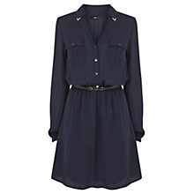 Buy Oasis Metal Tipped Shirt, Navy Online at johnlewis.com