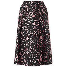Buy Whistles Ivy Smudge Print Skirt, Pink/Multi Online at johnlewis.com
