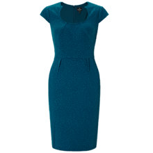 Buy Adrianna Papell Seamed Sheath Dress, Deep Turquoise Online at johnlewis.com