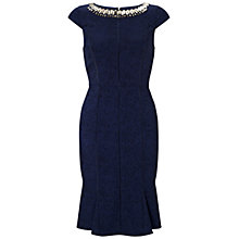 Buy Adrianna Papell Seam Flared Hem Dress, Navy Online at johnlewis.com