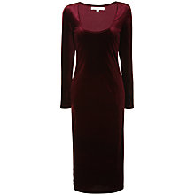 Buy True Decadence Velvet Midi Dress, Burgundy Velvet Online at johnlewis.com