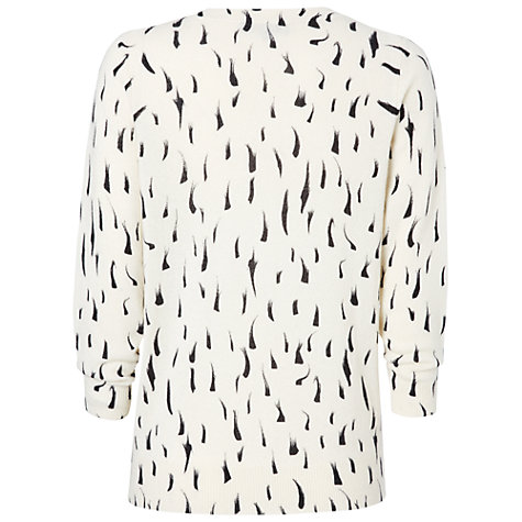Buy Jaeger Ermine Printed Jumper, White / Black Online at johnlewis.com