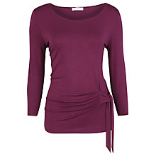 Buy Kaliko Side Tie Top, Plum Online at johnlewis.com
