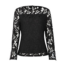 Buy Kaliko Lace Top, Black Online at johnlewis.com