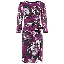 Buy Kaliko Joanna Waterfall Dress, Purple Online at johnlewis.com