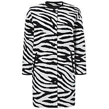 Buy Jaeger Zebra Jacquard Coat, Black / Stone Online at johnlewis.com