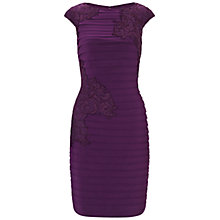 Buy Adrianna Papell Lace Bandage Dress, Plum Online at johnlewis.com