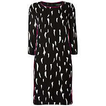 Buy Jaeger Ermine Printed Dress, Black / White Online at johnlewis.com