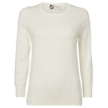Buy Boutique by Jaeger Mini Bobble Jumper, White Online at johnlewis.com