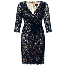 Buy Adrianna Papell Faux Wrap Lace Dress Online at johnlewis.com