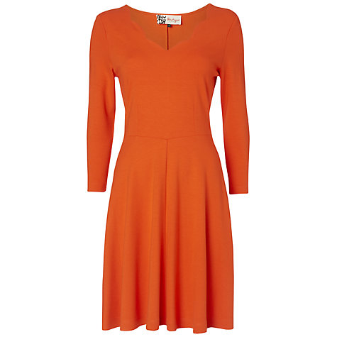 Buy Boutique by Jaeger Scallop Neck Skater Dress, Orange Online at johnlewis.com