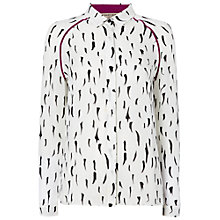 Buy Jaeger Ermine Printed Blouse, White Online at johnlewis.com