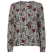 Buy Boutique by Jaeger Vine Print Sweatshirt, Ivory Online at johnlewis.com