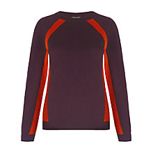 Buy Whistles Jenna Panel Detail Jumper, Burgundy Online at johnlewis.com