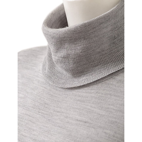 Buy East Merino Polo Neck Jumper, Ash Online at johnlewis.com