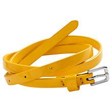 Buy Little Joule Girls' Skinny Patent Leather Belt Online at johnlewis.com