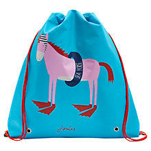 Buy Little Joule Girls' Junior Active Horse Print Bag, Turquoise Online at johnlewis.com