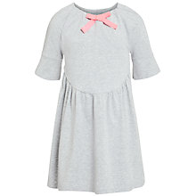 Buy Kin by John Lewis Girls' Grosgrain Bow Detail Dress, Grey Online at johnlewis.com