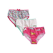 Buy Little Joule Girls' Knicknacks Briefs, Pack of 3, Multi Online at johnlewis.com