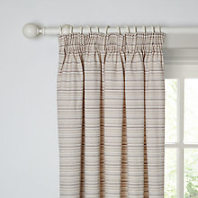Buy John Lewis Canterbury Stripe Lined Pencil Pleat Curtains, Natural Online at johnlewis.com