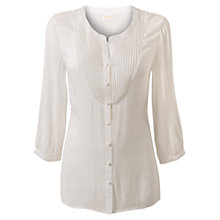 Buy East Viscose Jacquard Shirt, Ivory Online at johnlewis.com