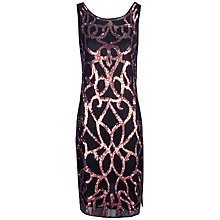 Buy True Decadence Sequin Shift Dress, Black Online at johnlewis.com