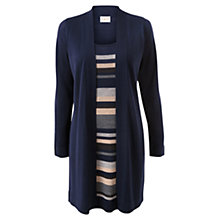 Buy East Merino Stripe 2 In 1 Knitted Top, Navy Online at johnlewis.com