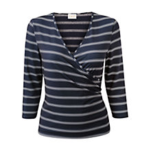Buy East Asymmetric Stripe Top, Navy Online at johnlewis.com