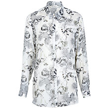 Buy Miss Selfridge Hummingbird Print Shirt, Assorted Online at johnlewis.com