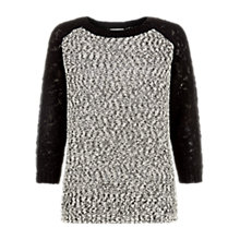 Buy Hobbs Yasmin Jumper, Black/Ivory Online at johnlewis.com