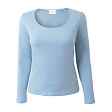 Buy East Scoop Neck Melange Top, Softshale Online at johnlewis.com