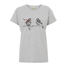Buy NW3 by Hobbs Robin T-Shirt, Grey Melange Online at johnlewis.com