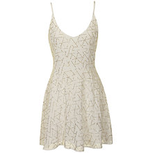 Buy True Decadence Beaded Dress, Cream Online at johnlewis.com