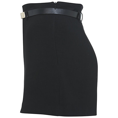 Buy Miss Selfridge High Waisted Short, Black Online at johnlewis.com